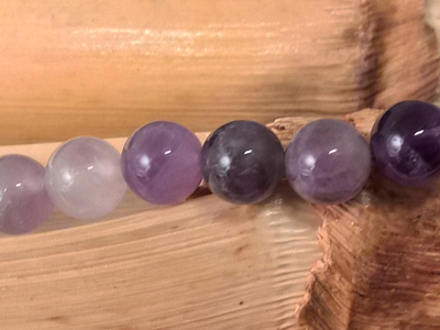 amethyst necklace 6mm