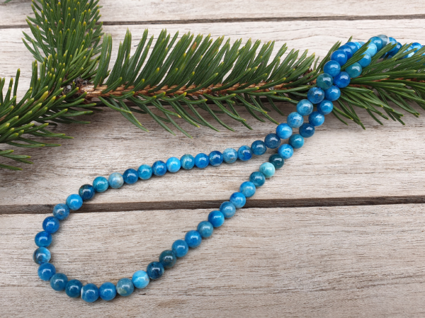 apatite necklace 6mm