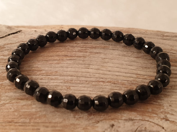 black tourmaline 6mm bracelet