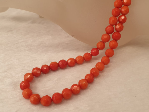 bamboocoral necklace faceted 7mm