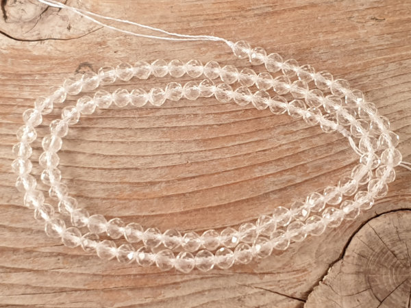 crystal necklace faceted 4mm