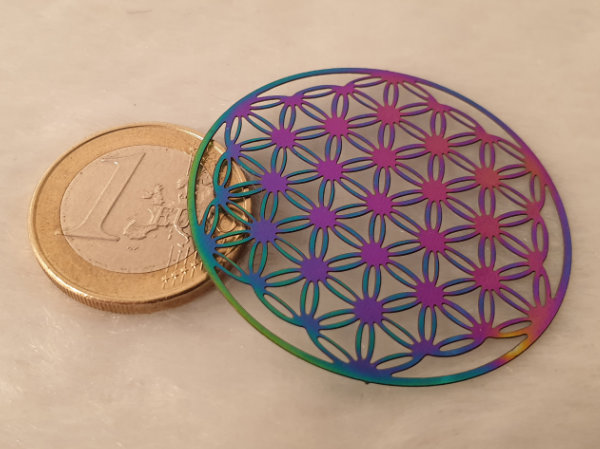 flower of life 20mm, stainless steel