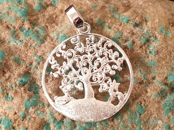 tree of life 25mm, silver