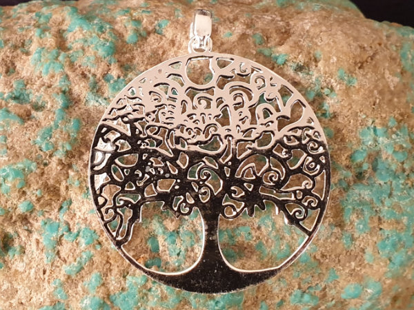 tree of life 40mm, silver