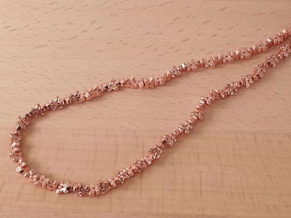 hematite necklace rosegold butterfly