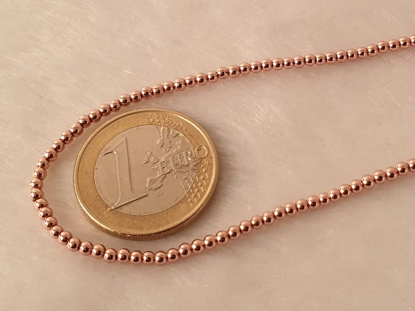 hematite necklace rosegold 2mm