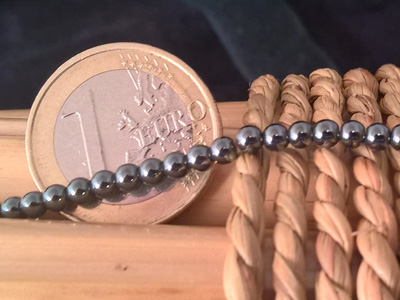 100 strand hematite necklace 3mm