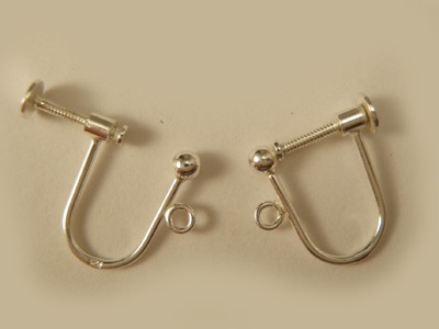 2 pcs earring 14x15mm, silver