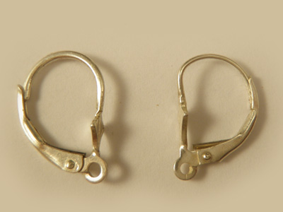 2 pcs earring 10x16mm, silver