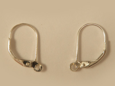 2 pcs earring 10x17mm, silver