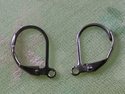 earring 10x14mm (2 pcs), stainless steel