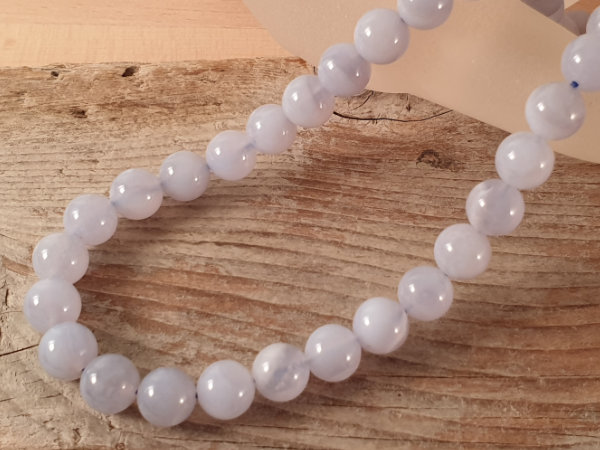 chalcedony necklace 8mm