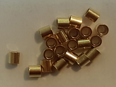 crimping bead large 1.5mm, silver gold plated, 20 pcs