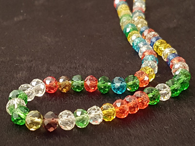 crystal necklace 7mm