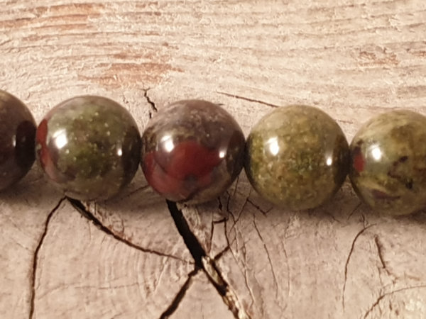 epidote jasper necklace 6mm