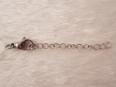 clasp w. chain 70mm stainless steel