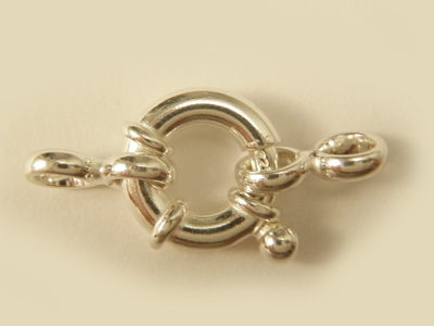 clasp 12mm silver