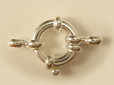 clasp 16mm silver