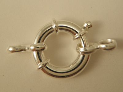 clasp 18mm silver
