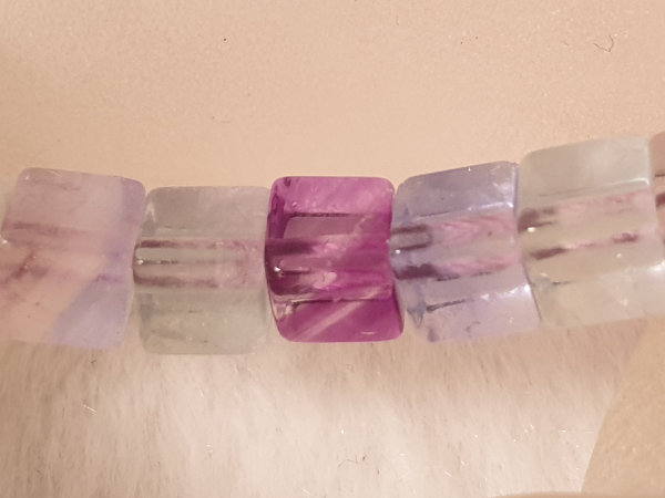 fluorite necklace 6x6mm