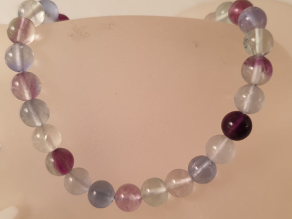 fluorite necklace 6mm