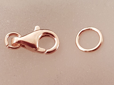 clasp 13mm silver rosegold