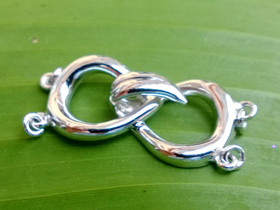 clasp 12x28mm silver rhodium plated