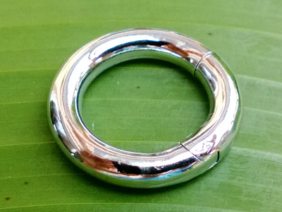 clasp 22mm silver rhodium plated