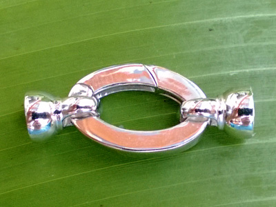 clasp 13.5x31mm silver rhodium plated