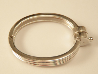 magnetic clasp 24x31mm Silver rhodium plated