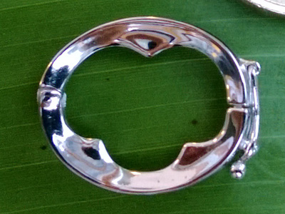 clasp 23*18mm silver rhodium plated