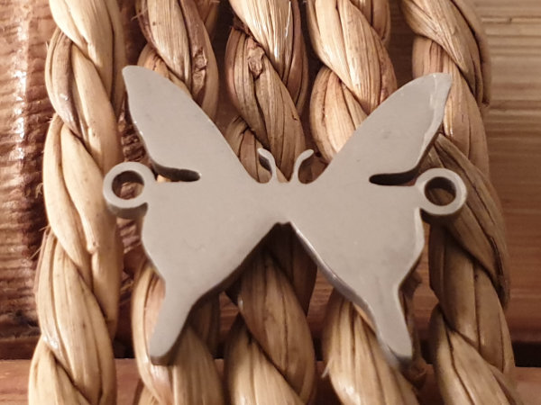 finding-link, butterfly 17mm, stainless steel