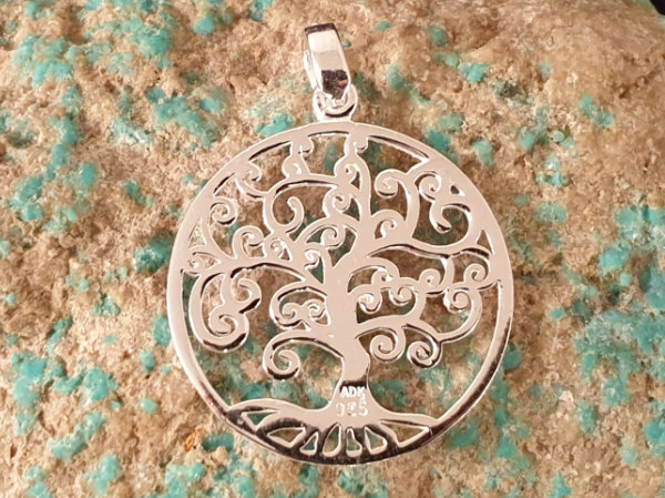 tree of life 30mm, silver
