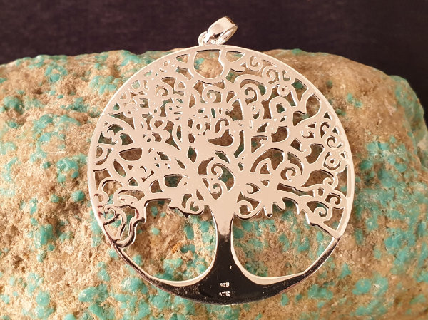 tree of life 50mm, silver