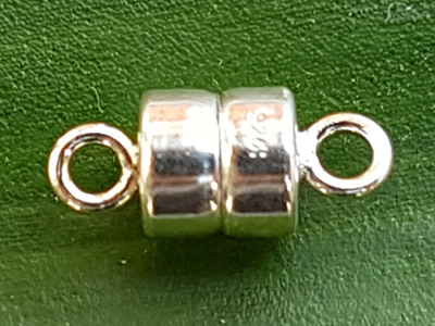 magnetic clasp 4.5mm silver