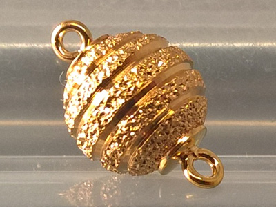 magnetic clasp 10mm gold plated, diamond
