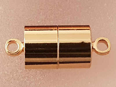 magnetic clasp 7x17mm goldcolor, glued