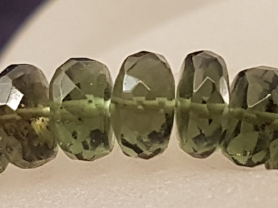 moldavite necklace 6mm/45(48)cm