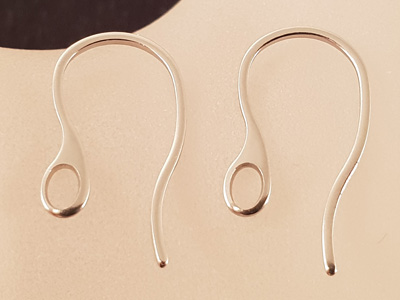 earhook 18mm (2 pcs), stainless steel