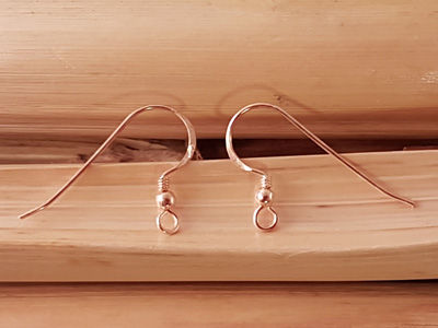 2 pcs earhook 18mm, silver rosegold plated