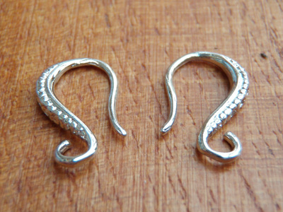 Ohrhaken 14mm (2 Stk), Metall-Antik