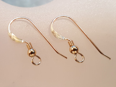 2 pcs earhook 17mm, goldfilled
