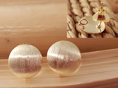 2 pcs earring 10mm, silver goldplated