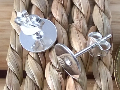 2 pcs earring 8mm, silver