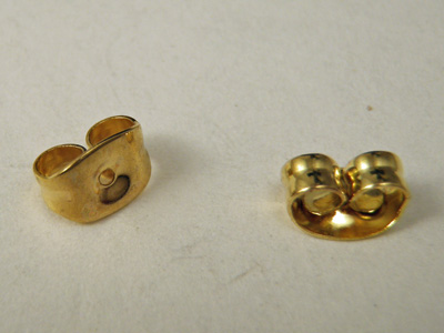 earring closure (10 pcs), brass gold plated