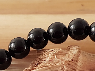 onyx necklace 6mm