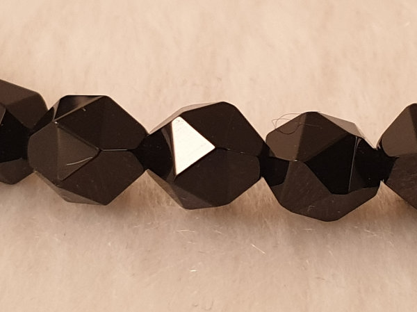 onyx necklace faceted 6mm