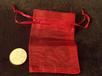 jewelry bag organza red 9x6.5cm