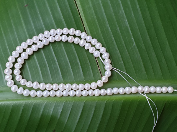 pearl necklace strand 4-5mm