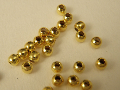 crimping bead 0.8mm, silver gold plated, 20 pcs